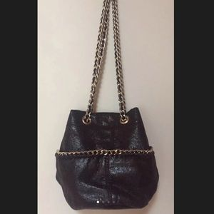 GAP black faux leather moto cross body bag NWOT